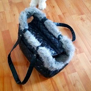 Faux Fur Pet Carrier
